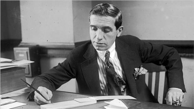 Charles Ponzi, the Escoffier of financial crime, at work.