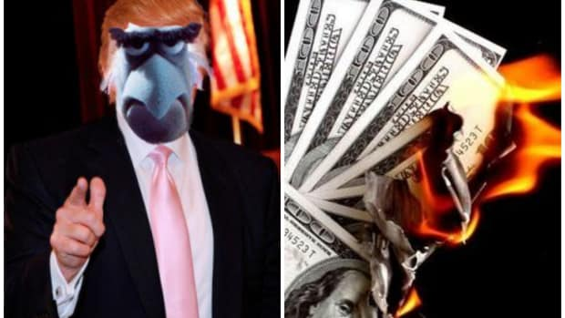 Trump.Burning Money