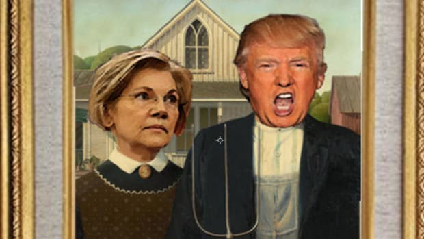 AmericanGothic.Warren.Trump
