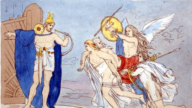 Three valkyries bring the body of a slain warrior to Valhalla, or: Dan Sundheim leaves Viking Global. (Lorenz Frølich [Public domain])