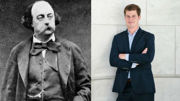 Gustave Flaubert and Daniel Rasmussen (Courtesy Wikimedia Commons, Verdad Fund Advisors)