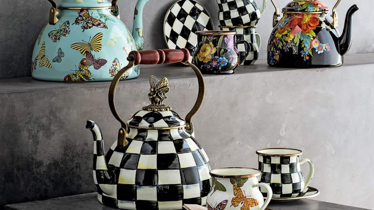 The Mackenzie-Childs Saucepan Calls The Silver Renaissance Teapot Black
