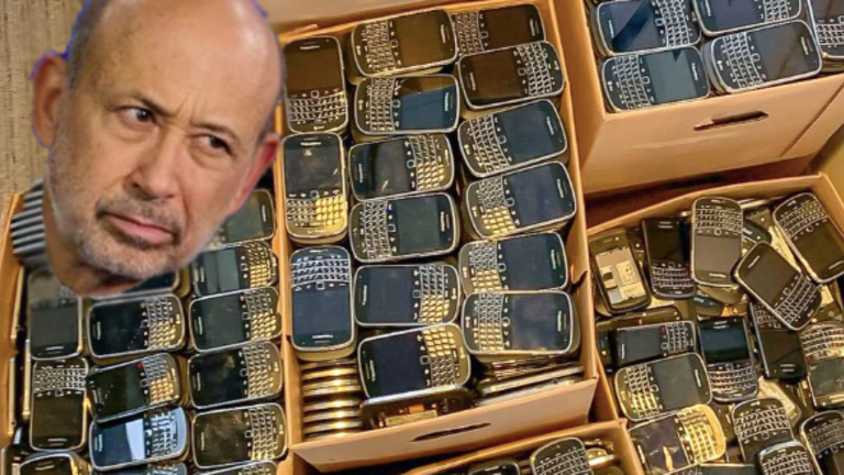Goldman Sachs Puts All Company-Issued BlackBerrys In The Storage Room So Lloyd Blankfein Has Something To Play With