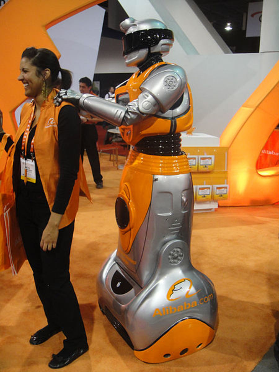 By The Conmunity - Pop Culture Geek from Los Angeles, CA, USA (CES 2012 - Alibaba robot (man in costume)) [CC BY 2.0], via Wikimedia Commons