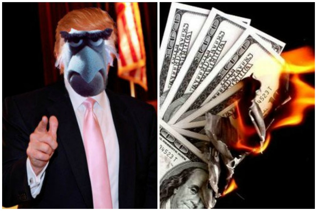 Trump.BurningMoney