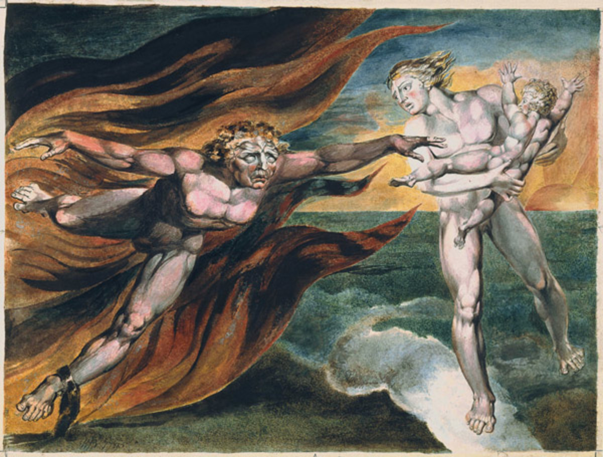 Family portrait with the infant Gravity Payments. William Blake [Public domain], via Wikimedia Commons