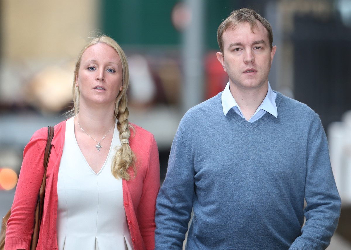 Tom Hayes and his wife Sarah Tighe. (Getty Images)