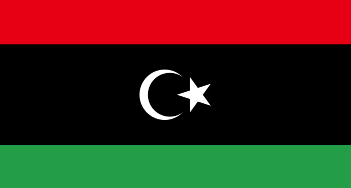 By VariousThe source code of this SVG is valid.This vector image was created with a text editor. (File:Flag of Libya (1951).svg) [Public domain], via Wikimedia Commons