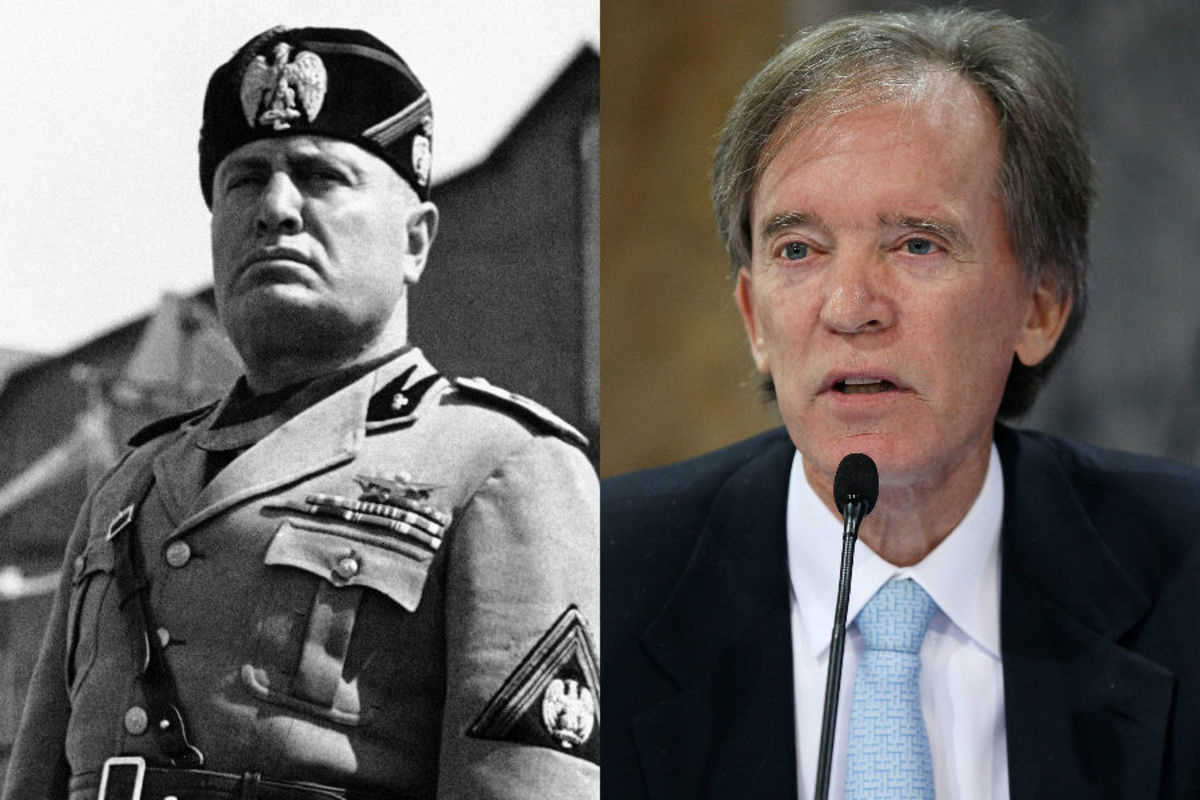 Il Duce and Bill Gross (Wikimedia Commons, Getty Images)